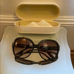 Chloe Oversize Sunglasses dark green
